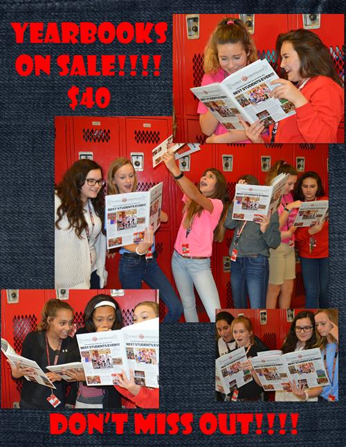 YEARBOOKS ON SALE NOW!!!!