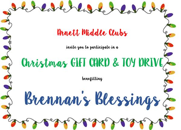 Gift card/toy drive until 12/18