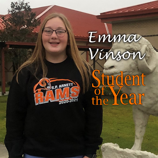 Emma Vinson  ⭐️  Calcasieu Parish Student of the Year