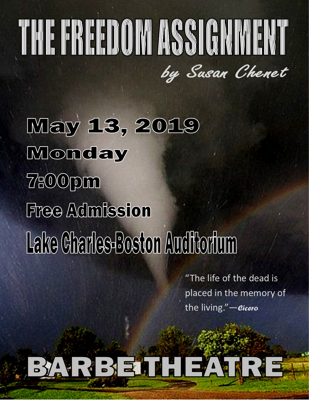"Barbe Theatre Presents ""The Freedom Assignment"""