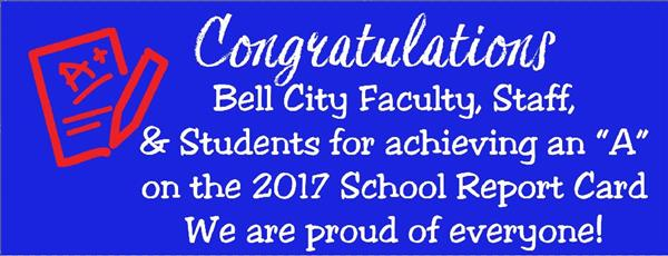 Bell City School earns A Rating for 2017!