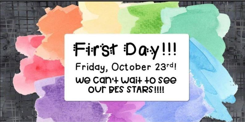 Click here for 1st day back details and info!!!