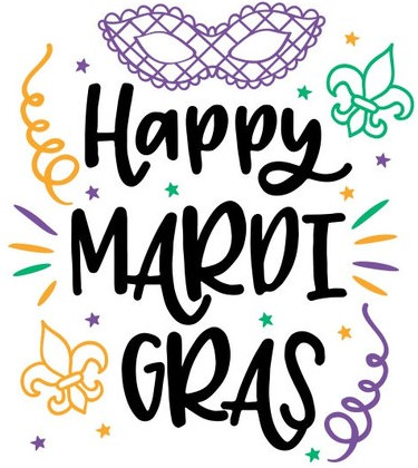 No School February 24th- 26th for the Mardi Gras Break.