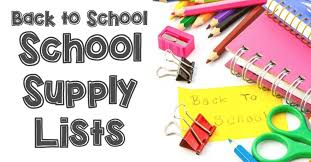 K - 5th Grade: Back to School Supply Lists