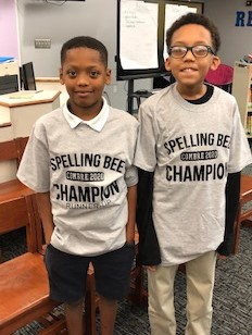 Congratulations Damarcus J & Christopher O, our Spelling Bee Winner & Runner-Up