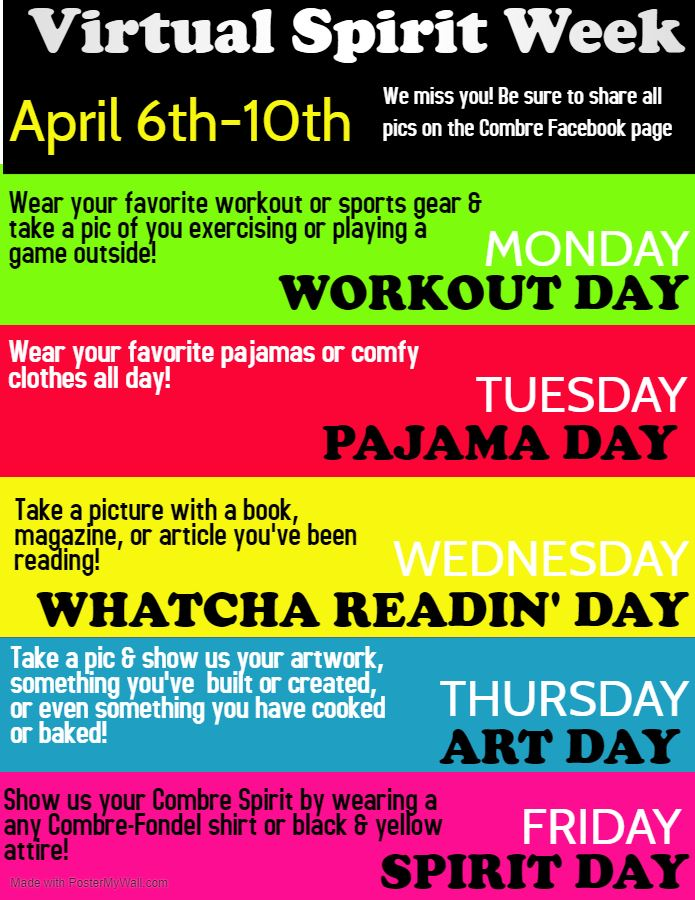 Virtual Spirit Week April 6-10