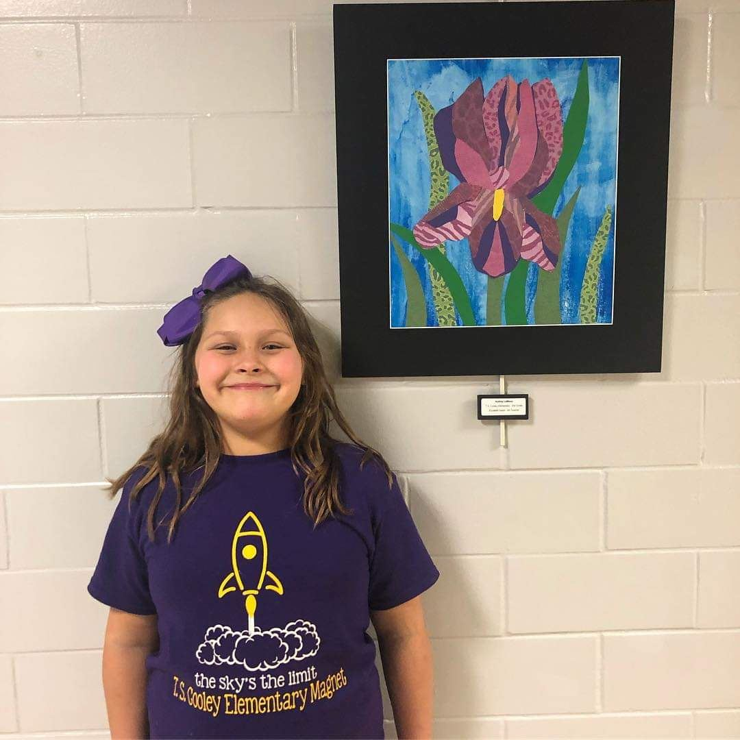 "2nd Grade Art on Display at CPSB's ""Louisiana Green"" Exhibit"