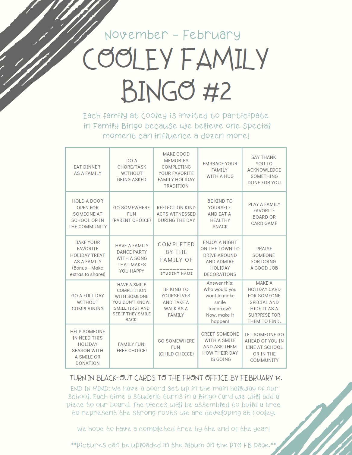 Cooley Family Bingo