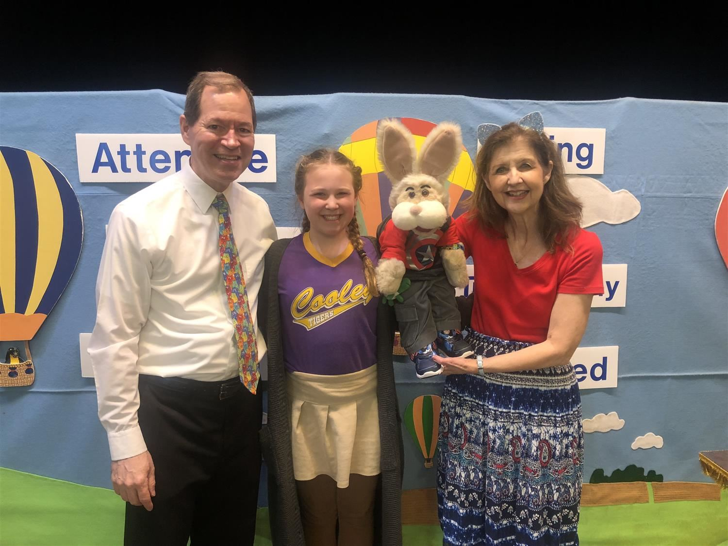 Harvey Rabbit Visit a Huge Hit with T.S. Cooley Students