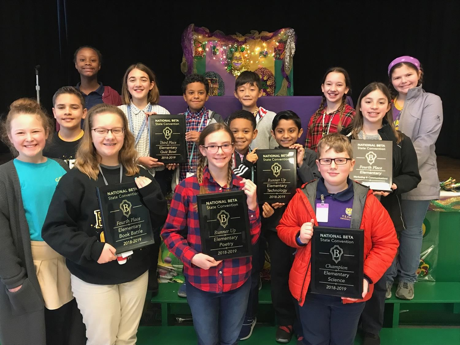 T.S. Cooley BETA Members Bring Home Trophies From State Convention