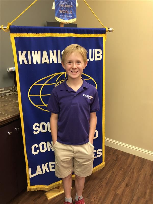 5th Grade Student Selected as a Golden Rule Finalist by Kiwanis Club of Southwest Contraband
