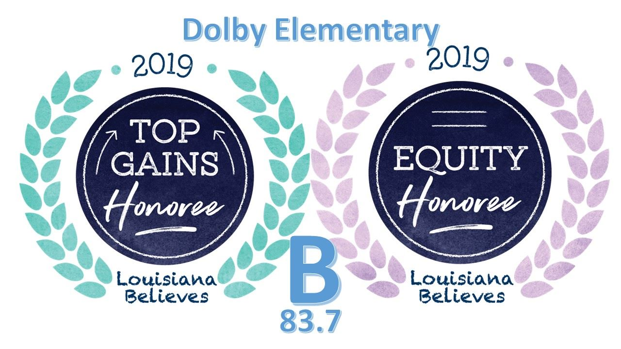 Dolby is a B+ school with Top Gains! We are so proud of the hard work our students put in every day!