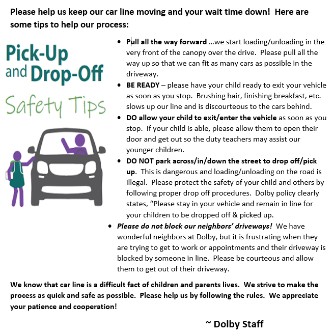 Drop Off & Pick Up Safety Tips