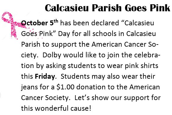 Calcasieu Go Pink Day