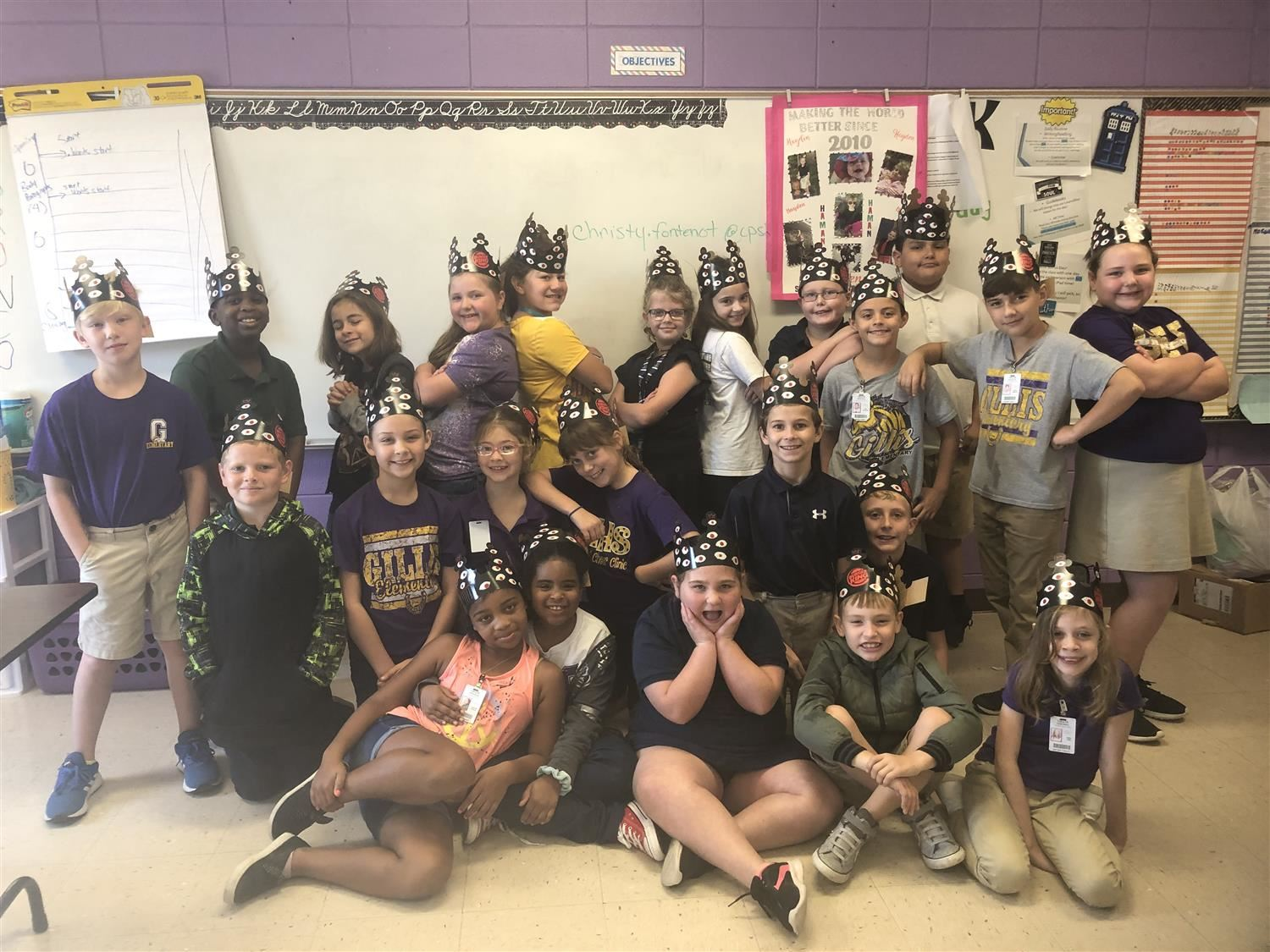 Thanks to Burger King in Moss Bluff for donating crowns for the fourth grade Medieval Feast!