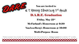 DARE Graduation Invite
