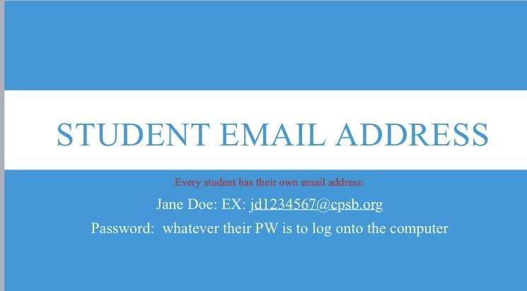 Instructions to access your School Email Account