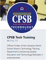 CPSB Tech Training Twitter