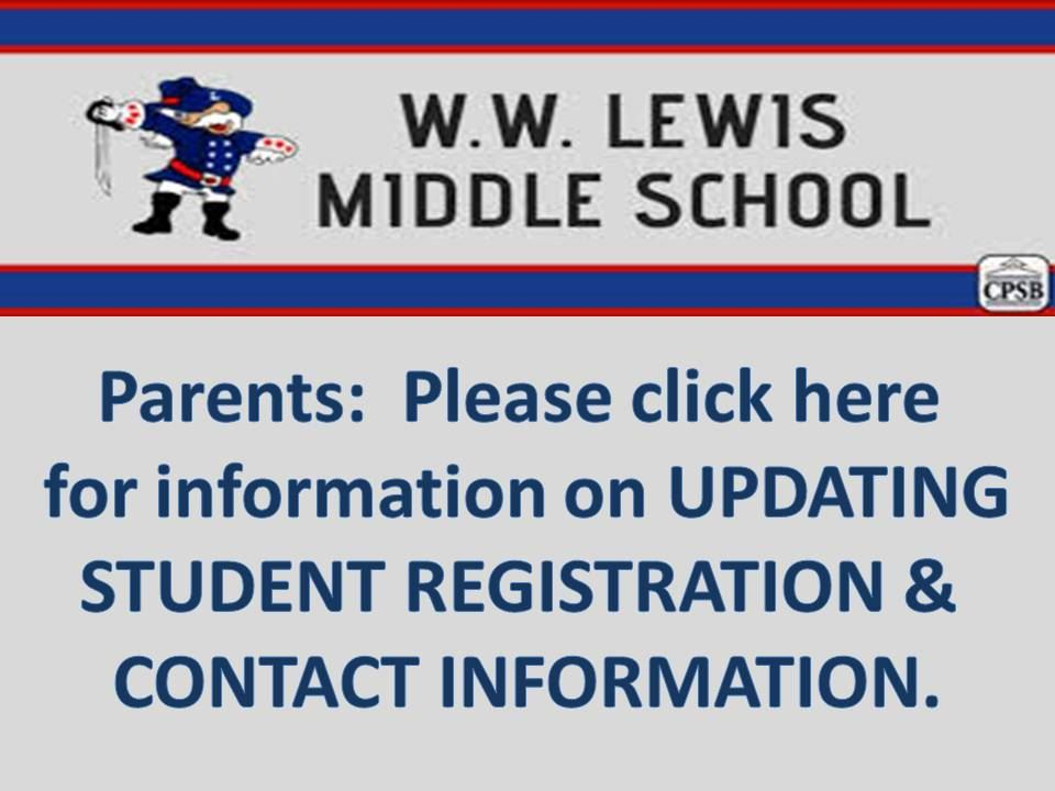 Information on Updating Student Information