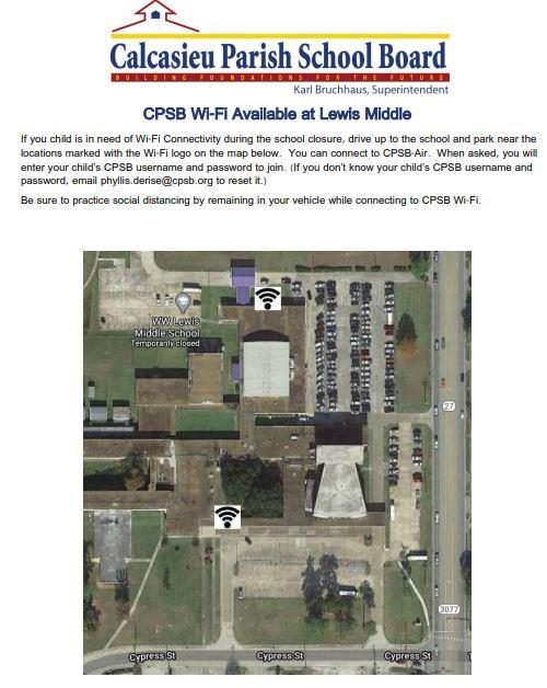 WiFi Available at Lewis Middle School