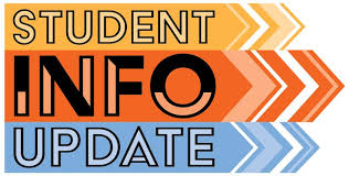 Update your student's information NOW!