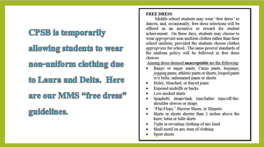 MMS Free Dress Guidelines