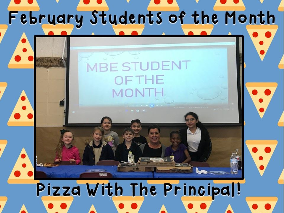 Students of the Month!  Congrats kiddos!