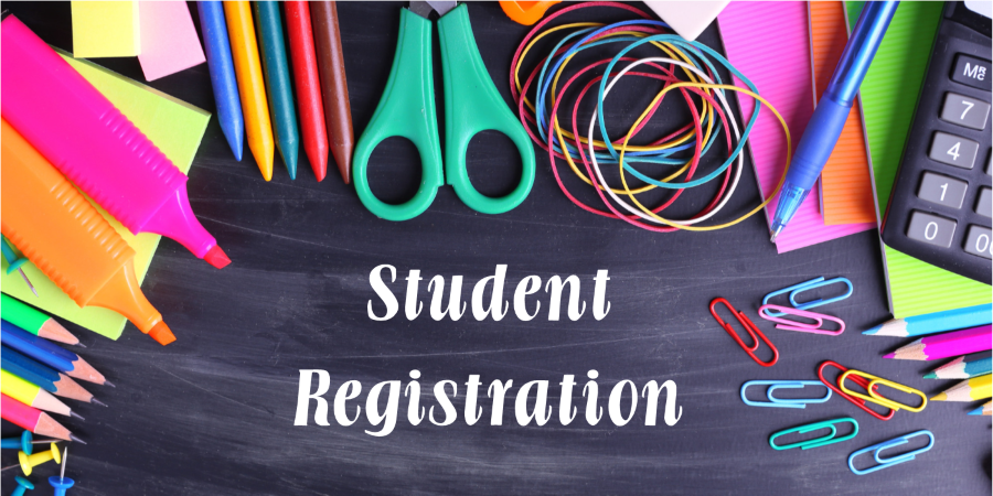 Registration for the current school year is taken in the front office from 8:15-2:00