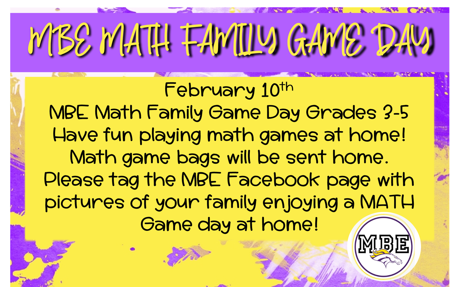 MBE Math Family Game Day