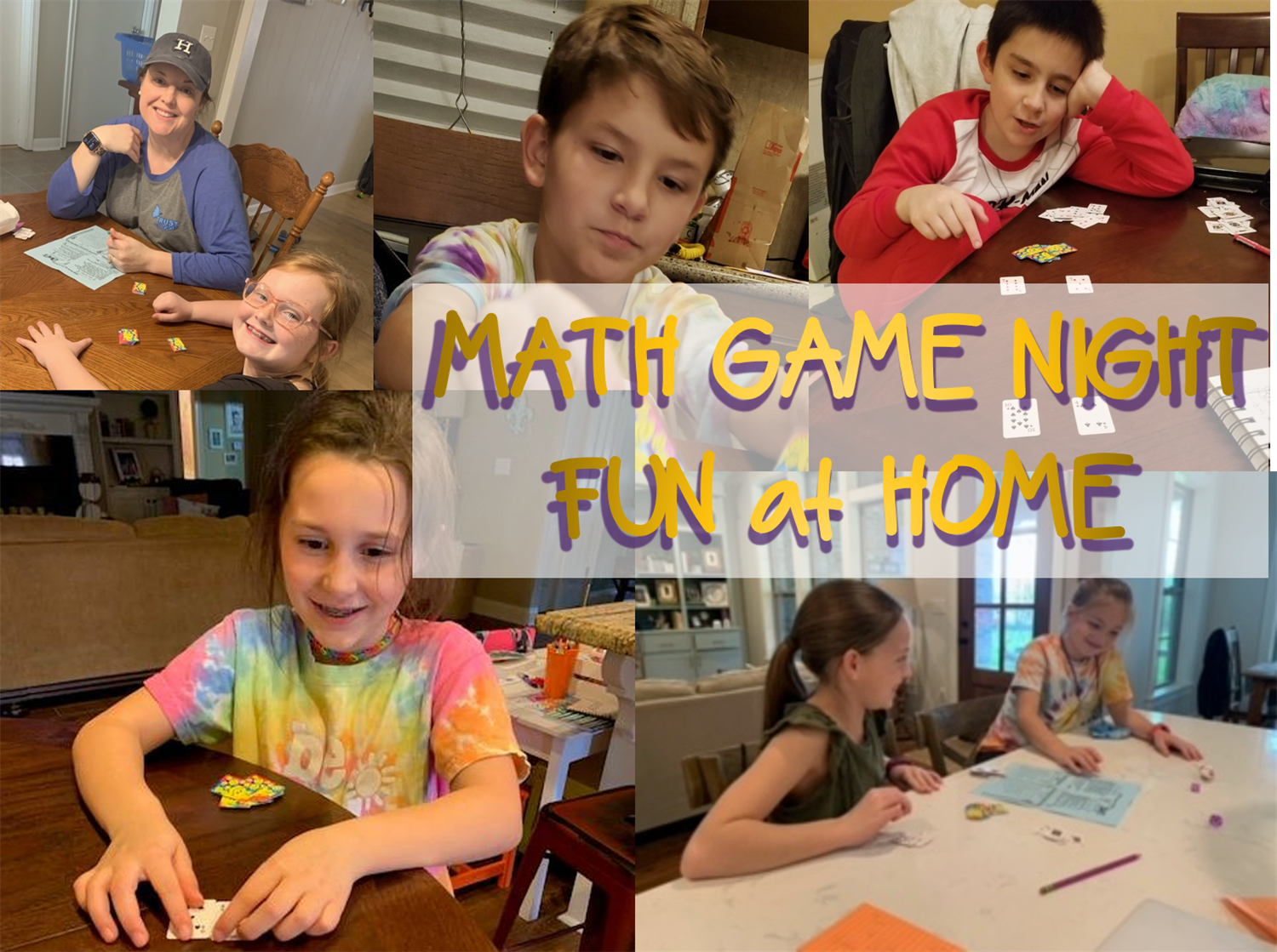 Math Game Night @ Home - Our Broncos (and their parents) had a blast playing math games at home as part of our Math Game Night @ Home event!