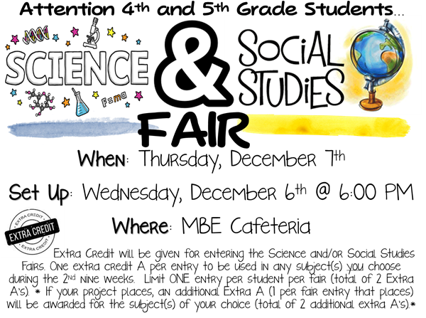 Science and Social Studies Fair Details