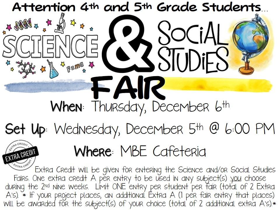 Science/SS Fair