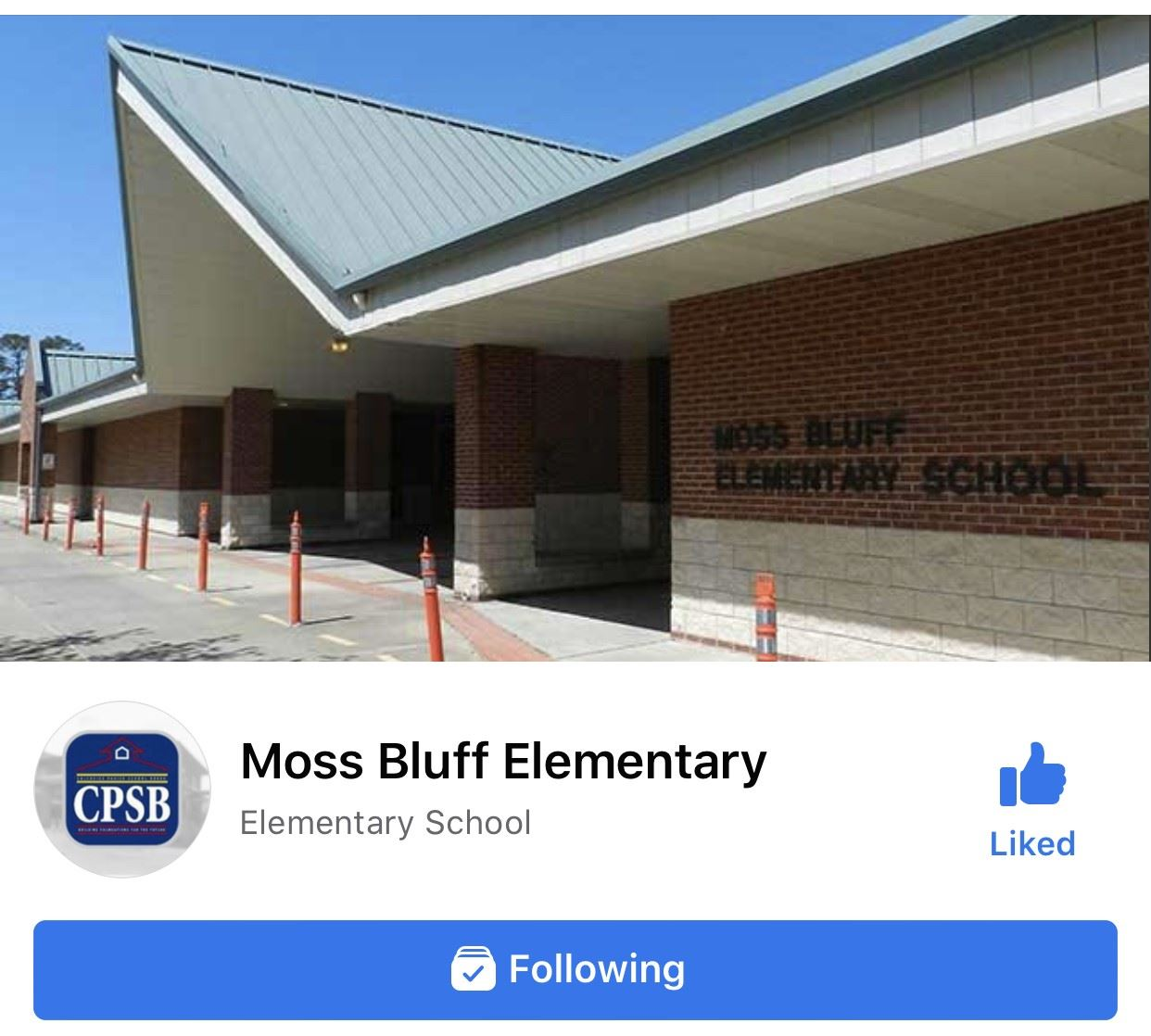 Moss Bluff Elementary Official Facebook Page - Please spread the news about our Official FB page to stay up to date with important information!  WE MISS YOU ALL!  STAY WELL!