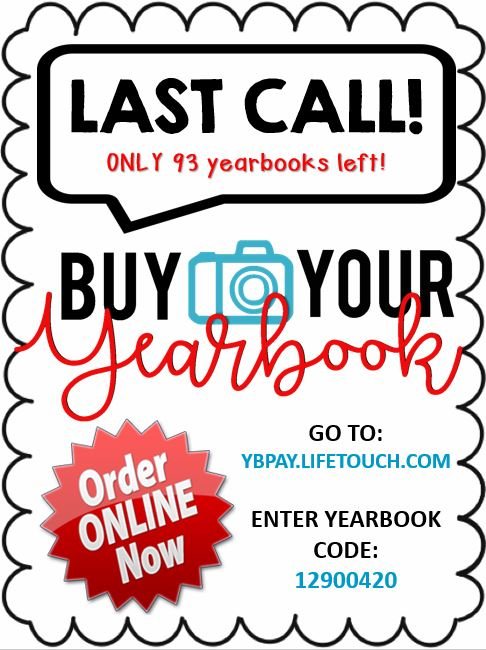 Yearbook Sale Online (Online Orders Only) - Please click Read Full Story for more information and the direct link!