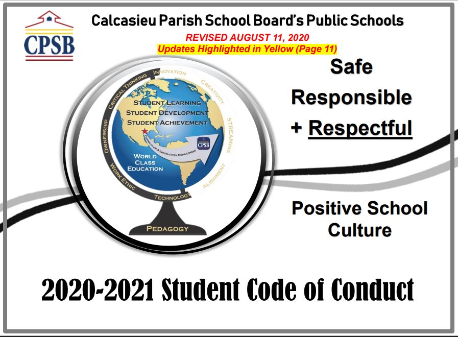 2020-2021 Student Code of Conduct, CPSB