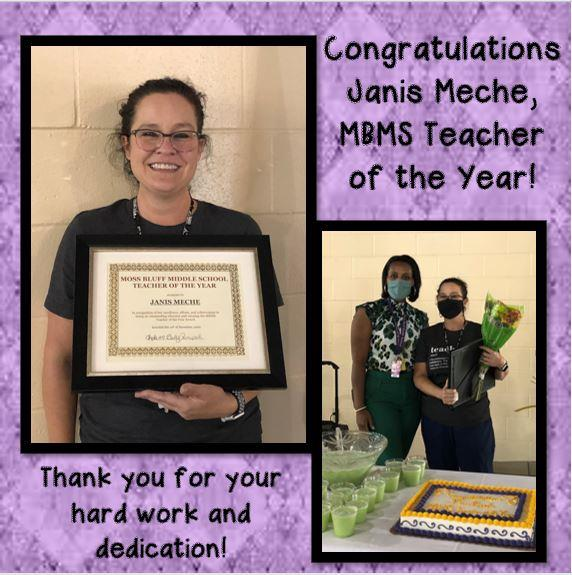 Mrs. Janis Meche, MBMS Teacher of the Year!