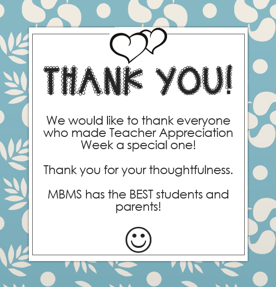 Teacher Appreciation Thoughtfulness