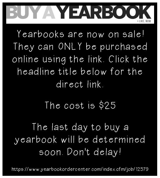 CLICK HERE for the link to purchase yearbooks