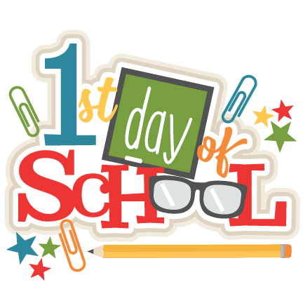 1st Day of School Tuesday August 13
