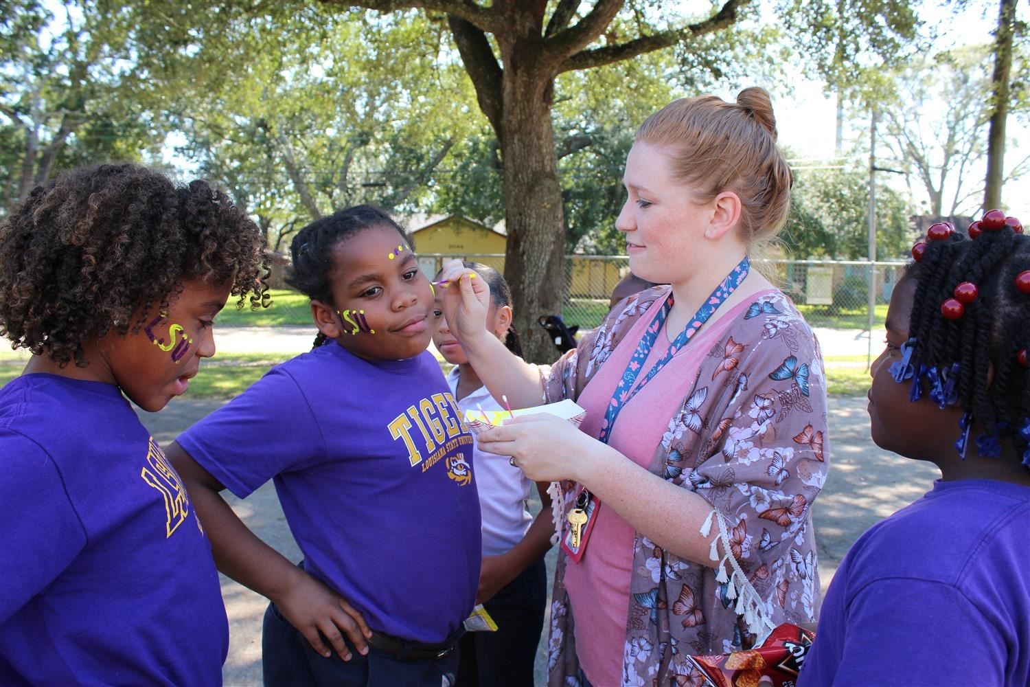 PBIS Tailgate Celebration for 1st 9wks Awesome Behavior! Click below to see more Pictures.
