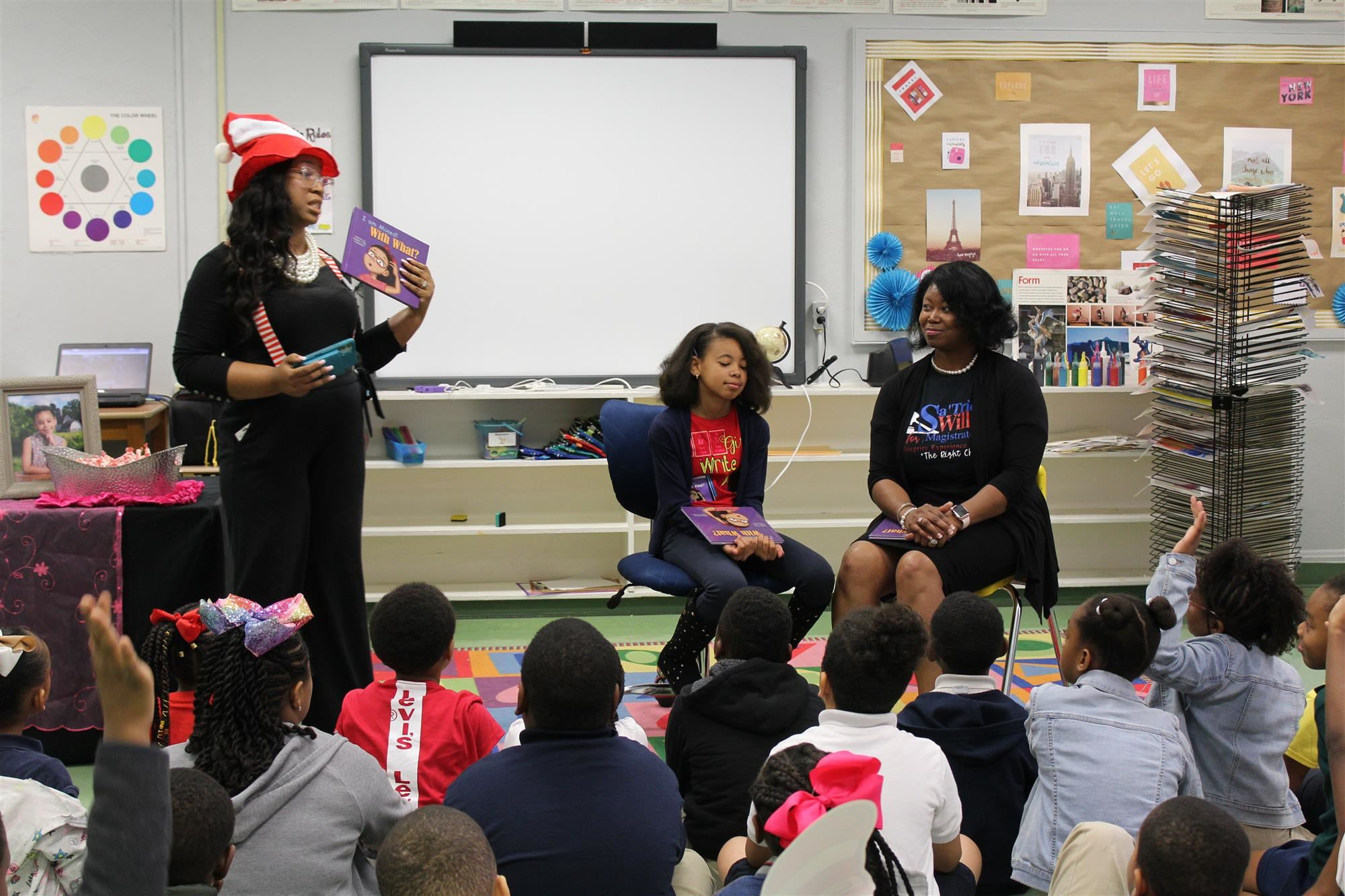 Dr. Seuss Day at OPE! Also, Special Guest child author Samira Bensaadat! Click here for Pictures...