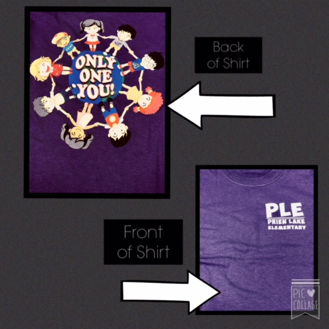 Prien Lake Spirit Shirts are available until November 1st! These shirts can be worn on Tuesdays and Fridays.  Long sleeve shirts and sweatshirts are now available.