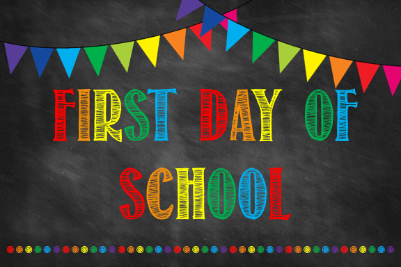 First day of school for Kindergarten through 5th grade students is Tuesday, August 14th.