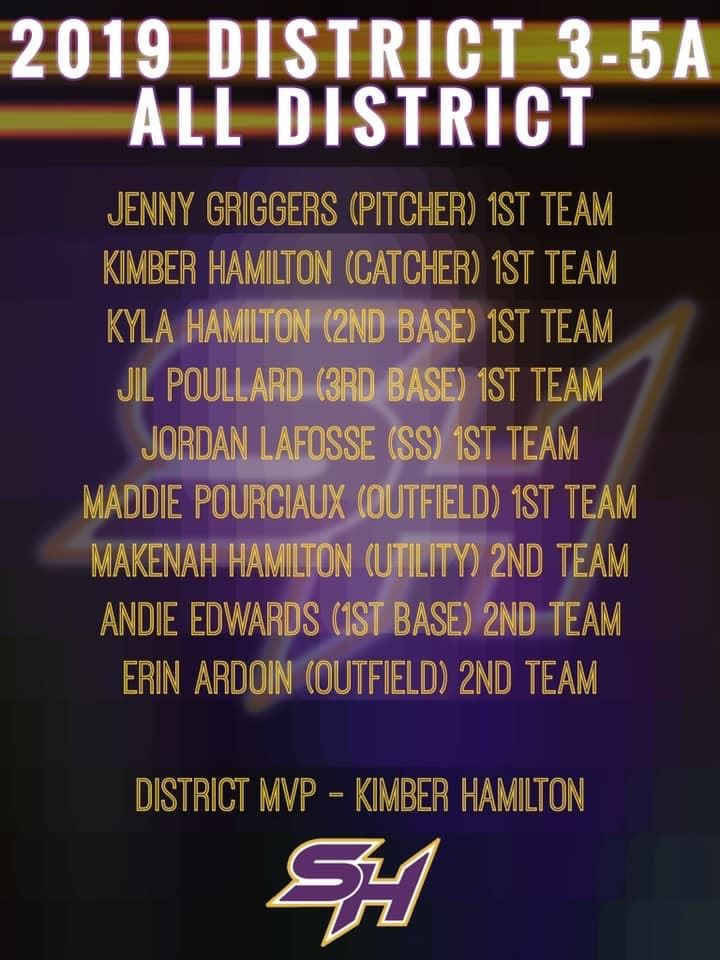 Softball Players Earn All District Honors