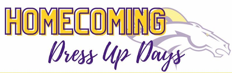 Click here to see the Homecoming dress up days for 12/7-12/11!!