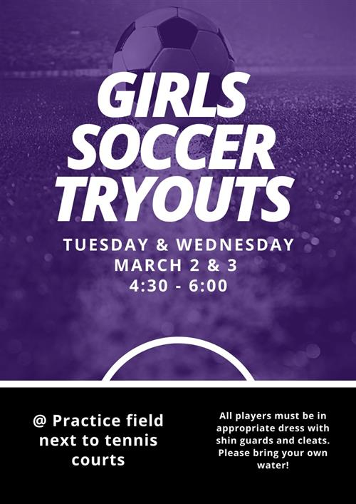 Girls Soccer Try Outs