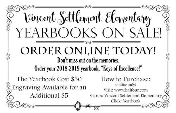 Order your Yearbooks Online! Open to click the link.