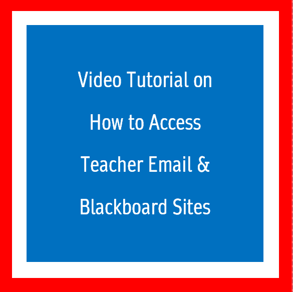 Video Tutorial on how to access teacher website and email