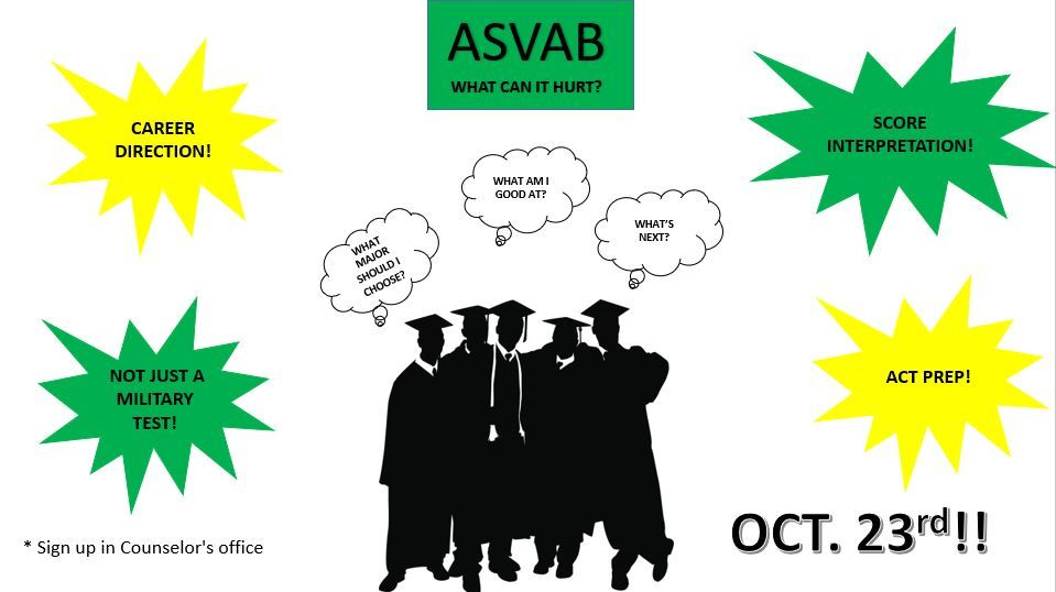 Take the ASVAB test. Earn bonus points and a free dress day!