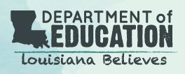 Louisiana Department of Education's COVID-19 Webpage for Information and Resources